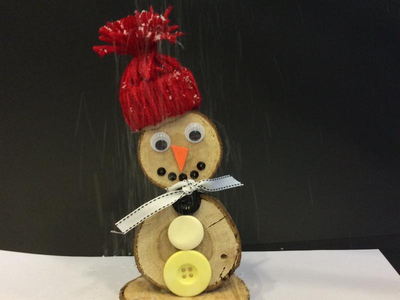 boomstam sneeuwpoppen